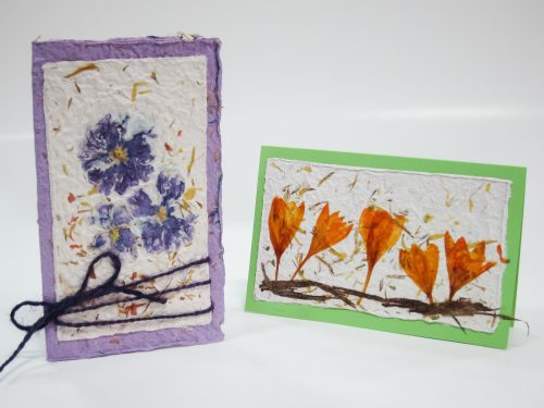 Handmade paper spring cards