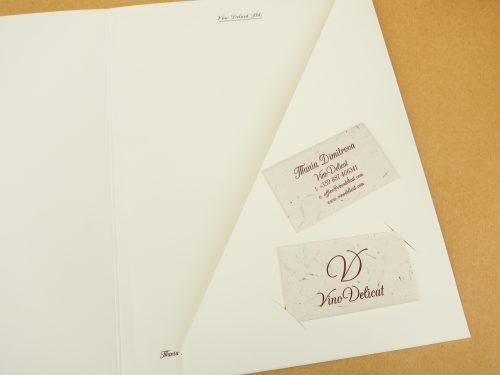 Folders, letters, business cards